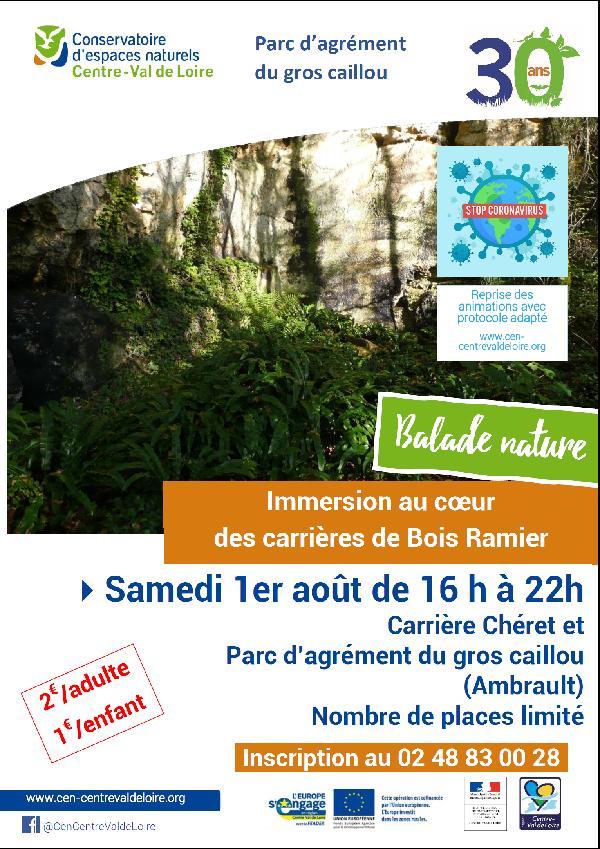 Balade nature carriere Cheret et parc agrement du Gros Caillou