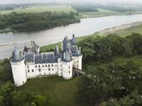 Domaine de Chaumont-sur-Loire vue aérienne